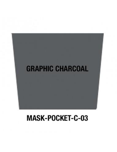 Masque tissu Graphic Charcoal