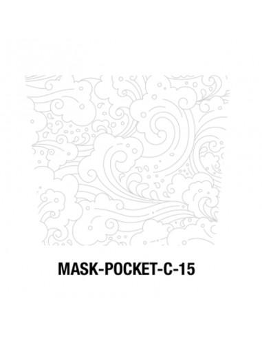 Masque tissu motif vent