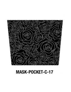 Masque tissu motif rose