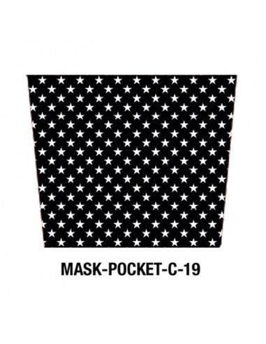 Masque tissu motif étoiles