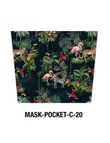 Masque tissu motif Jungle