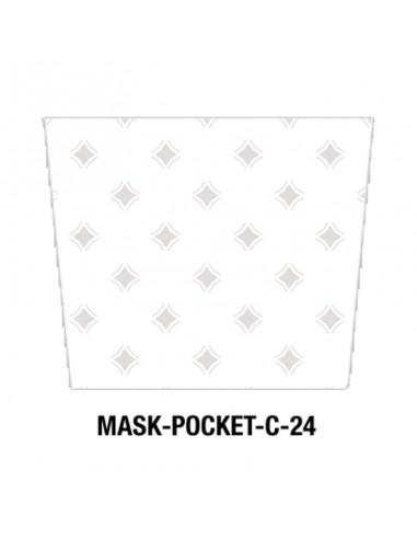 Masque tissu motif géométrique