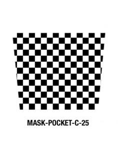 Masque tissu dammier