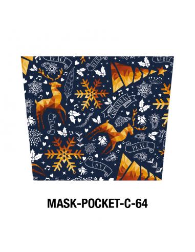 Masque tissu Noël